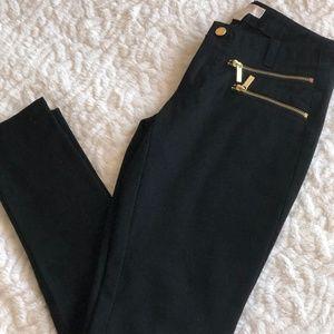 Michael Kors Zip-Pocket Stretch-Twill Skinny Black